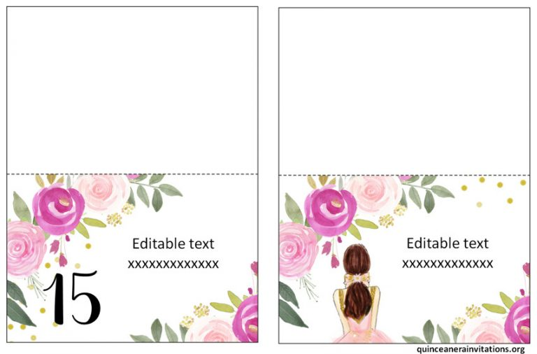 Printable Quinceanera Food Labels