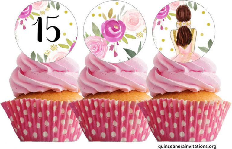 Quinceanera Cupcake Toppers