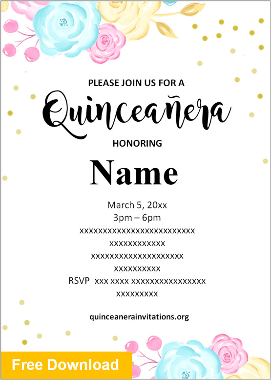 quinceanera invitations free download